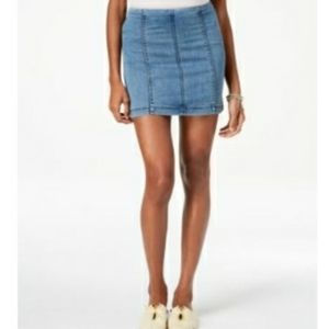 Dionne Demin Skirt | Free People Demin Camo Capri